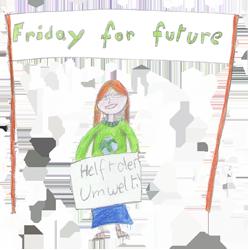 Zeichnung Greta Thunberg © Grand méchant loup | Böser Wolf