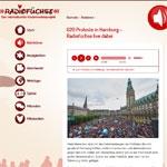 Radiofüchse - Live dabei bei den G20 Protesten