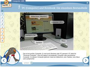 Screenshot des Computer-ABC vom Internet-ABC