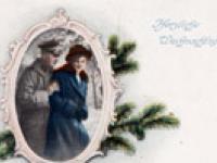 Alte deutsche Weihnachtskarte