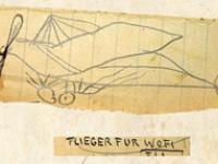 Zeichnung eines Flugzeuges von 1914