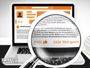 Lupe über einer Internetseite