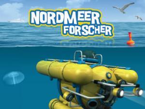 Ein Forschungs-U-Boot unter Wasser