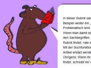 Eine Ratte mit Buch