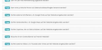 Screen FAQ Bayerisches Landesamt für Datenschutzaufsicht