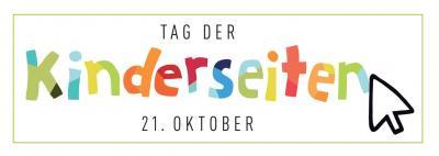Logo vom Tag der Kinderseiten mit bunten Buchstaben