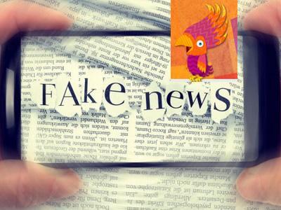 Zeitungsausschnitt Fake News