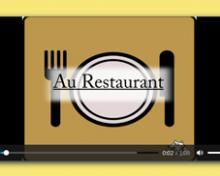 Au restaurant: Tafel mit einem gedeckten Tisch