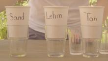 Wie viel Wasser können Sand, Lehm und Ton aufnehmen?