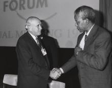 Frederik de Klerk und Nelson Mandela
