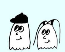 Ein Geisterpaar unterwegs