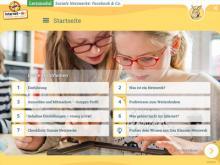 """Startseite des Lernmoduls """"Soziale Netzwerke – Facebook und Co."""""""