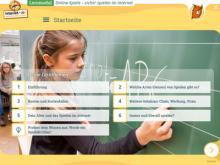 """Startseite des Lernmoduls """"Online-Spiele – sicher spielen im Internet"""""""