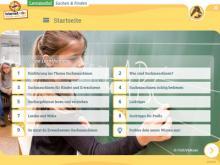 """Startseite des Lernmoduls """"Suchen und Finden im Internet"""""""