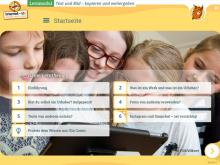 """Startseite des Lernmoduls """"Text und Bild – kopieren und weitergeben"""""""