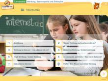 """Startseite des Lernmoduls """"Werbung, Gewinnspiele und Einkaufen"""""""