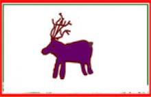 Weihnachtskarte mit Rentier