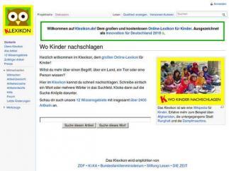 Bildschirmfoto Klexikon