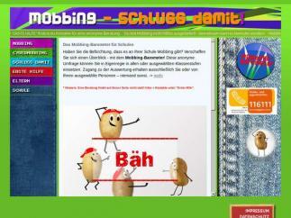 Bildschirmfoto Mobbing-Schluss damit!