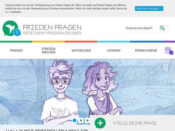 Bildschirmfoto Frieden-Fragen