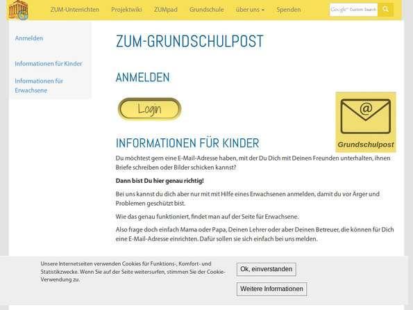 Screenshot ZUM-Grundschulpost