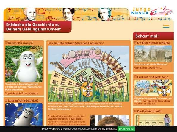 Bildschirmfoto Junge Klassik