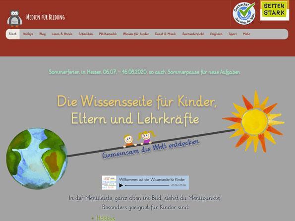 Bildschirmfoto Medien für Bildung