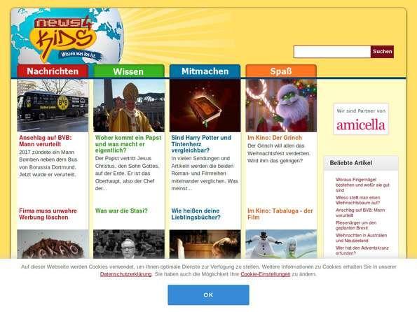 Bildschirmfoto News4Kids