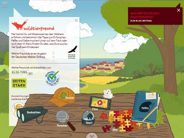 Screenshot Wildtierfreund