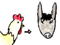 Vom Hahn zum Esel wechseln
